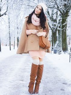 cozy pastel winter outfit
