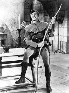 "Errol Flynn photographed for ""The Adventures of Robin Hood"", 1938"