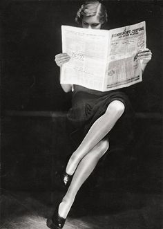 Yva: Woman Reading Newspaper 1932