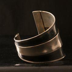 Cuff   Designer ? (French).  Oxidized sterling silver.  ca. 1930s.