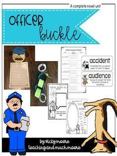 officer buckle craft, book extensions and activities Teacher Hacks, Teacher Pay Teachers, Officer Buckle And Gloria, Common Core Standards, Teacher Helper, Book Organization, Book Study, Graphic Organizers, Great Books