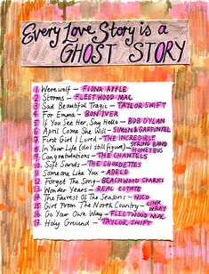 Friday Playlist: Every Love Story Is a Ghost Story