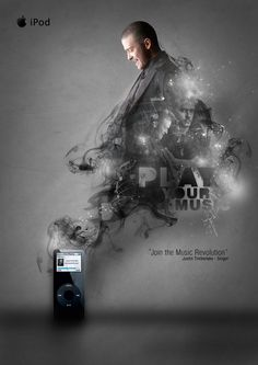 iPod-Play Your Music poster with Timberlake by ~svpermchine @deviantART