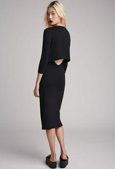 Layered Cutout Midi Dress | Forever 21 - 2000052708