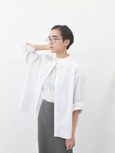 Image of Oversized Striped Shirt
