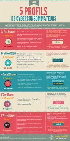 Infographie Les 5 visages des e-shoppers