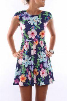 Mid Summer Skater Dress $55 AUD SHOP: www.jeanjail.com.au/ladies/mid-summer-skater-dress.html  This floral print is super cute!