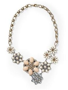 Piperlime's Flower Cabachon Statement Necklace is only 42 dollars compared to J.Crew's 228 dollar Flower Lattice Necklace