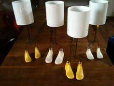 Brutalux: petites lampes a base de formes de cordonnerie industrielle
