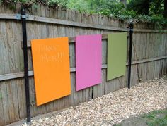 After a recent trip to the Children's Museum of Manhattan , I was inspired to make these outdoor chalkboard murals for Jake. The museum had . Kids Outdoor Play, Outdoor Play Spaces, Outdoor Chalkboard, Reggio Inspired Classrooms, Thanks Mom, Outdoor Classroom, Children's Museum, Backyard, Outdoor Decor