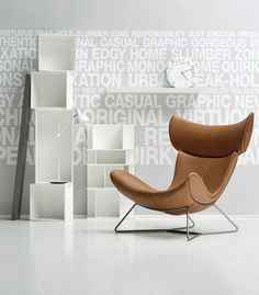 Contemporary Leather Armchair Imola By Boconcept Cool Furniture, Modern Furniture, Furniture Design, Boconcept, Urban Interior Design, Wooden Chair Plans, Chair Design Wooden, Contemporary Armchair, Built In Bookcase