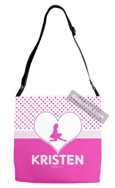 Golly Girls: Personalized Cute Simple Pink Polka-Dots Irish Dance Shoulder Tote Bag only at gollygirls.com