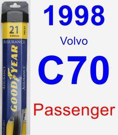 Passenger Wiper Blade for 1998 Volvo C70 - Assurance