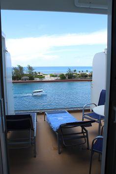 Balcony of Norwegian Getaway Cabin 8726 in Nassau