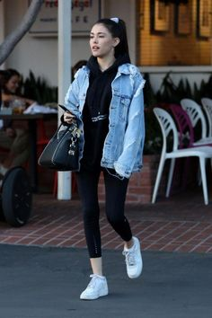 Trendy how to wear nike air force outfit sneakers 68 ideas Leather Jacket Outfits 2020 Sneakers Fashion Outfits, Edgy Outfits, Mode Outfits, Grunge Outfits, Casual Comfy Outfits, Casual Wear, Black Outfits, Women's Casual, Casual Clothes