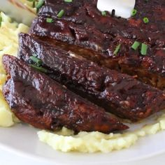 The best vegan ribs recipe with jackfruit and sietan! Quick and easy to make, no oil vegan plantbased easyrecipe easydinner oilfree is part of Vegan ribs - Vegan Dinner Recipes, Rib Recipes, Veggie Recipes, Whole Food Recipes, Cooking Recipes, Healthy Recipes, Cooking Videos, Seitan Recipes, Cooking Ribs