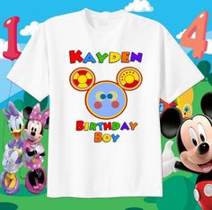 OH TOODLES Face Mickey Mouse Clubhouse Custom t-shirt Personalize Birthday gift  #GildanorRabbitSKin