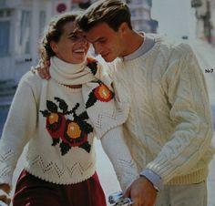 Vintage Knitting Patterns Sweater Men Women Pingouin by elanknits