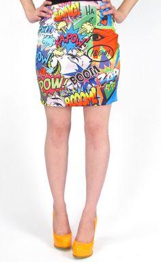 Pop Art Clothing on Pinterest | Bangs
