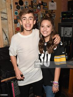 Johnny Orlando & Mackenzie Ziegler pose backstage during their 'Day & NIght' tour at Mr Smalls on October 28, 2017 in Millvale, Pennsylvania.