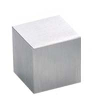 1 Inch Stainless Steel True Square Cabinet Knob, Acorn PMH-M-01