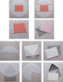 Pocket Wonders: DIY: Doily Envelope Liners