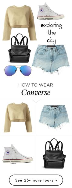 """""""Exploring the City"""" by natap13 on Polyvore featuring adidas Originals, T By Alexander Wang, Converse and Givenchy"""