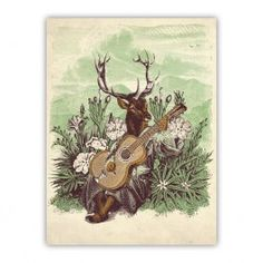 Mountain Song Wood Print $40.00