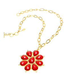 Another great find on #zulily! Ruby & Gold Maisie Pendant Necklace by Amrita Singh #zulilyfinds