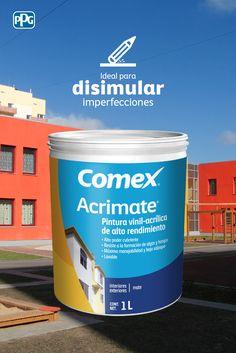 El acabado uniforme deAcrimate® te ayudará a disimular las imperfecciones de tus paredes.Colores disponibles: 2300 del Sistema ColorLife® 2.0.#ProductosComex