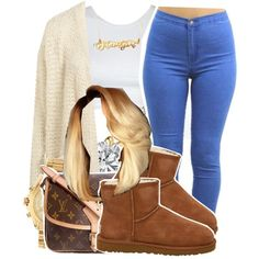 6/13/15 by xtaymaxlovesxmisfitx on Polyvore featuring Topshop, UGG Australia, Louis Vuitton and Michael Kors