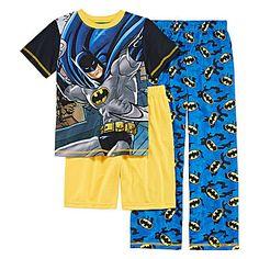 jcp | Batman 3-pc. Pajama Set - Boys 4-12