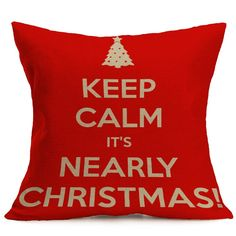 43*43CM Xmas Pillowcase Christmas Decorations For Home Tree Santa Claus Cotton Linen Cushion Cover Set Red Pillow Case