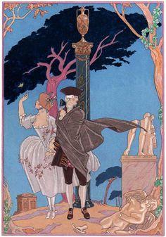 Georges Barbier (1882-1932) — 'Les Fêtes Galantes' by Paul Verlaine, 1920 (654×935)