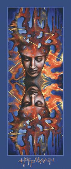 A Martina Hoffman fine art poster titled Trance-Formation. 15 x 36.5 inches on glossy stock.
