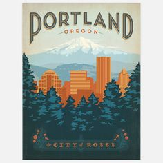 Vintage style travel poster by Art & Soul of America.