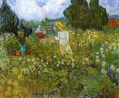 Mademoiselle Gachet in her garden at Auvers-sur-Oise Vincent Van Gogh Reproduction   1st Art Gallery
