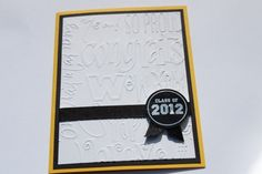 Graduation Card Class of 2012 by RoyalRegards on Etsy