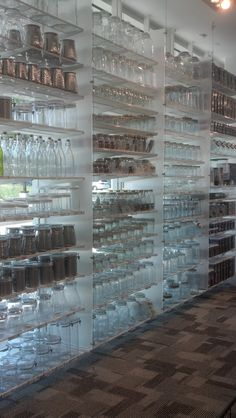 Organize your pantry with Container Store glass jars. Mason Jar Storage, Mason Jars, Kitchen Organization, Storage Organization, Container Store, Glass Jars, Pantry, Organize, Hobbies