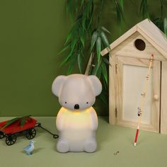 A sweet companion for nervous sleepers, this adorable cosy koala night light has two brightness settings and is rechargeable too! The Glow Company, Contemporary Toys, Childrens Lamps, Popular Kids Toys, Creative Kids, Sleepover, Cool Toys, Kids Bedroom, Koalas