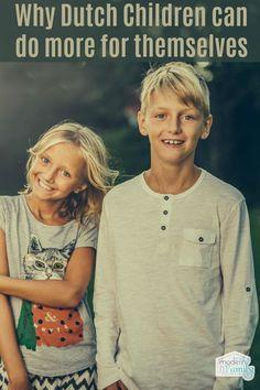 Dutch parents make their children self-reliant
