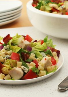 """Zesty Chopped Salad -- How easy is it to make this delicious salad recipe? """"Combine ingredients."""" (That easy.)"""
