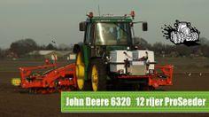 John Deere 6320 met de 12 rijer ProSeeder Single uien zaaien Trekkerweb