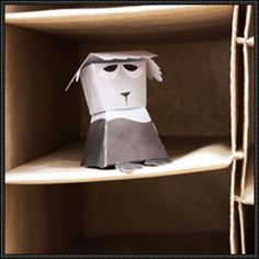Sam the Sheepdog Free Paper Toy Download - http://www.papercraftsquare.com/sam-sheepdog-free-paper-toy-download.html