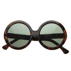 Oversize Jackie Bold Round Designer Sunglasses 8045