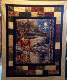 271 best images about Eagle, wolves,deer Camo Quilt, I Spy Quilt, Tractor Quilt, Quilting Projects, Quilting Designs, Quilting Ideas, Quilt Block Patterns, Quilt Blocks, Fabric Panel Quilts