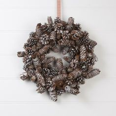Gisela Graham Snowy Cone Wreath