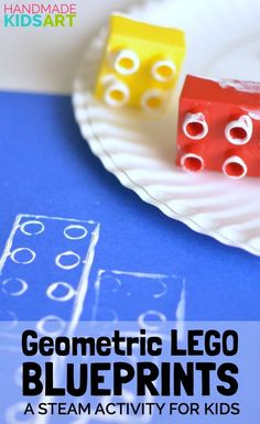 Geometric LEGO Blueprints: A STEAM activity for Kids. Combine Math, Art and Engi… Geometric LEGO Blueprints: A STEAM activity for Kids. Combine Math, Art and Engineering for a hands-on activity that is fun and engaging. Lego Activities, Steam Activities, Nanny Activities, Lego Games, Lego Plan, Legos, Construction Theme Preschool, Construction Crafts, Art For Kids