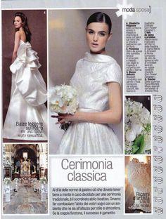 "On italian magazine ""Diva e Donna"" - [moda sposa] - for a romantic #bride!  #weddingdress #ElisabettaPolignano #diveEdonna"