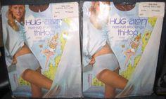 "2 pkgs Vintage Sears Hug - Alon Non-run Stockings Thi - Top Suntan 5 ft. 4"" - 9"" #sears #thitopstockings"
